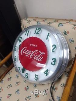 LARGE Vintage 1950s Coca-Cola Light Up Drink Coca Cola Clock