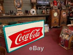 Large 1960's 70 COKE Coca-Cola Tin Advertising Sign Watch Video