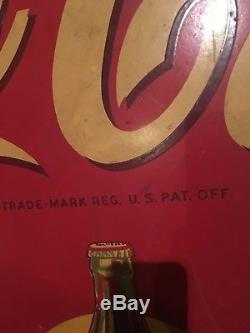 Large Antique Vintage Collectible Cola Display Sign. Very Rare Advertisement