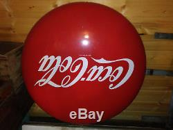 Large Coca Cola Advertising Sign with Two Buttons. From Gas Station Coffee