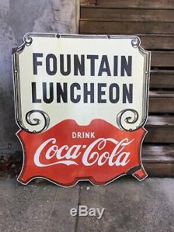 Large Coca Cola Double Sided Porcelain Sign