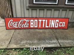 Large Coca Cola porcelain Sign