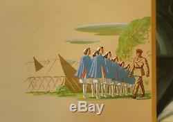 Large Rare Antique 1942 WWII US Army Nurse Corps, Drink Coca Cola Cardboard Sign