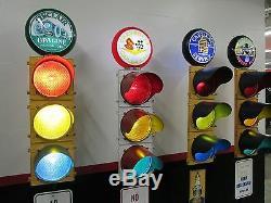 Large Traffic Light Gas Pump Globe Sign Pole Harley Coke OK Cars Corvette COOL