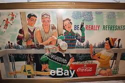 Large Vintage 1950's Coca Cola Soda Pop 58 Sign