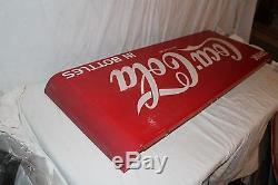Large Vintage 1952 Drink Coca Cola In Bottles Soda Pop 43 Metal Sled Sign
