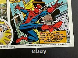 Marvel origin SPIDER-MAN Coca-Cola poster signed by STAN LEE