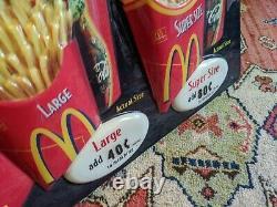 Mcdonald's Advertising Sign 3-d Extra Value Meals Super Size Fries Coke Vtg Rare