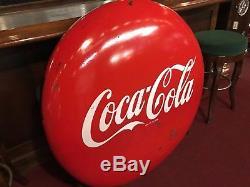 Mid Century Coca Cola COKE Porcelain 48 Vintage Advertising Sign Watch Video