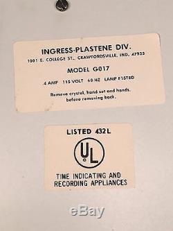 NEW 1976 Vintage Coca Cola Coke Ingress-Plastine Clock Model G017 MINT IN BOX