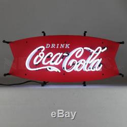 Neon Sign Coca Cola Fishtail wall lamp soda pop Fountain Vendo 72 81 machine 44
