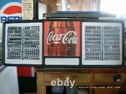 New! 4ft Coca-Cola Menu Board with2 sets of coke letters & numbers & symbols