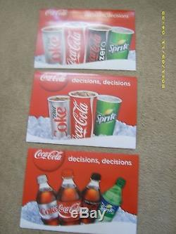 New! 4ft Coca-Cola Menu Board with6 sets of letters & numbers