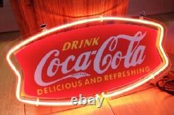 New Coca Cola Drink Neon Sign Lamp Light 14x7 Acrylic Beer Bar With Dimmer