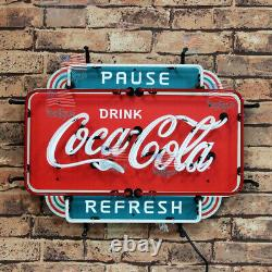 New Coca Cola Pause Drink Refresh Neon Sign 20 With HD Vivid Printing Decor