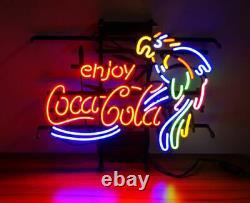 New Enjoy Coca Cola Coke Parrot Neon Sign 20x16 Lamp Lighting Glass Artwork