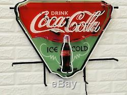 New Enjoy Drink Coca Cola Ice Cold Beer Bar Neon Sign 19x15