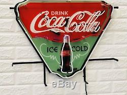 New Enjoy Drink Coca Cola Ice Cold Light Neon Sign 24 with HD Vivid Printing