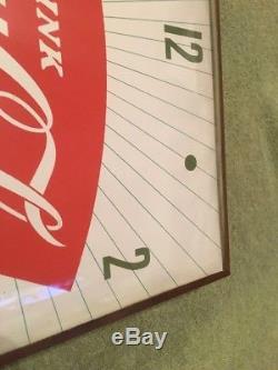 Nice Orginal Coca Cola Advertising Clock Sign
