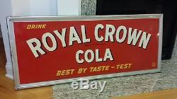 No Reserve Embossed. 52x22. Vintage1946 Royal Crown Cola Nehi Coca Sign