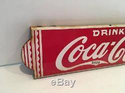 ORIGINAL 1930's COCA COLA DOOR PUSH SIGN + 1950s COKE MACHINE SIGN INSERT