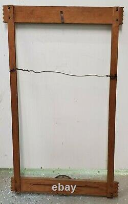 ORIGINAL 1940's COCA COLA CARDBOARD POSTER WOOD VERTICAL FRAME SMALL SIZE