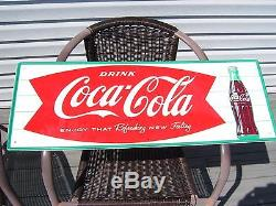 Original Coca Cola Sign 32in. By 12in. Excellent Condition, No Touch-ups