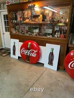 ORIGINAL! Coca Cola 36 Button Sign Marquis Pilaster Bottle Signs Store Front