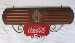ORIGINAL Vintage 36X14 COCA-COLA Wood SIGN by Kay Displays