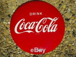 Old Coca Cola 12 Button Sign 1950s Metal Not Porcelain Coke Vintage Original