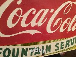 Old Coca Cola Porcelain Sign