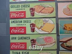 Old Original Coca-Cola Coke Soda Fountain Cardboard Advertising Signs