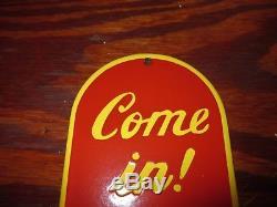 Old Original Coca Cola Door Push Porcelain Enamel Sign Coca Cola Porcelain Sign