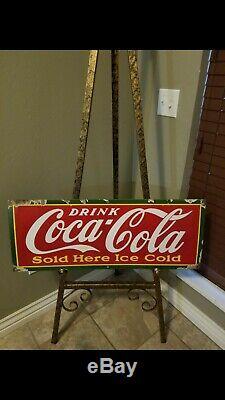 Old Original Coca-cola Porcelain Sign