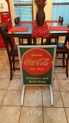 Old Original Early Coca-cola Curb Signs