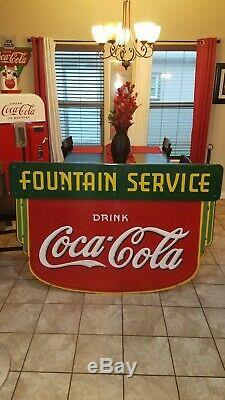 Old Original Rare 1930s Coca Cola Sign