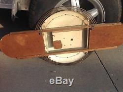 Orig 1940s Art Deco Coca Cola Button clock Sign tin masonite Kay products