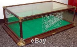 Original 1910s Coca Cola Pepsin Chewing Gum Union Showcase Display Case, Sign