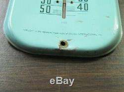 Original 1930's Orange Crush Soda 16 Metal Thermometer Sign Works