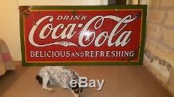 Original 1931 Coca Cola Delicious And Refreshing Sign