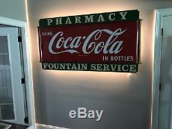Original 1940's Porcelain Coca-Cola 6' Sled Sign