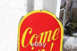 Original 1942 Coca-Cola Porcelain Sign 54 TALL