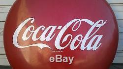 Original 1950's Coca Cola 48 (4 foot) button sign