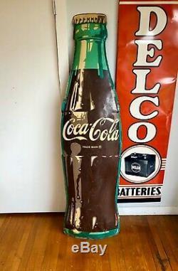 Original 1950s Coca Cola Bottle 6ft. Advertising Soda Sign