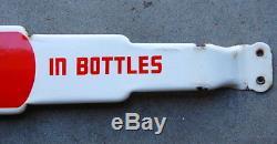 Original 1950s Coca Cola Porcelain Door Push Bar, Coke Advertising, Antique