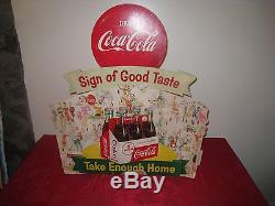 Original 1956 Coca-Cola Cardboard Display