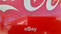 Original 1960 Coca-Cola Vertical fish tail sign Sign of good taste NOT porcelain