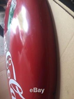Original 48 Coca-cola Coke Soda Pop Bottle Porcelain Button Sign Not Pepsi
