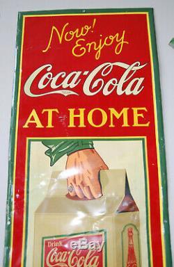 Original Antique Coca Cola Rare Tin Sign, Coke Advertising Soda