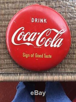 Original Authentic Coca-Cola Antique Advertising Button Sign A 12 Size